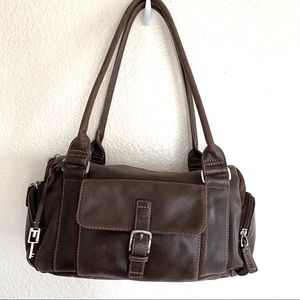 Fossil Brown Leather Shoulder Hand Bag